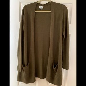 Old Navy cardigan, olive green, sz small, worn 1x